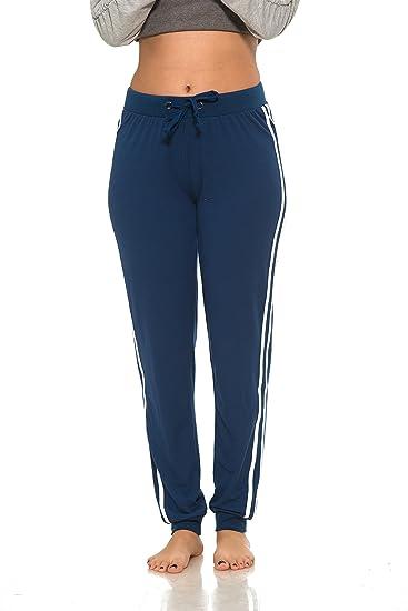 clients first pretty cool official shop Coco-Limon Womens Sweatpants - Long Joggers, Double Leg Stripe, Reg &  Plus-Size