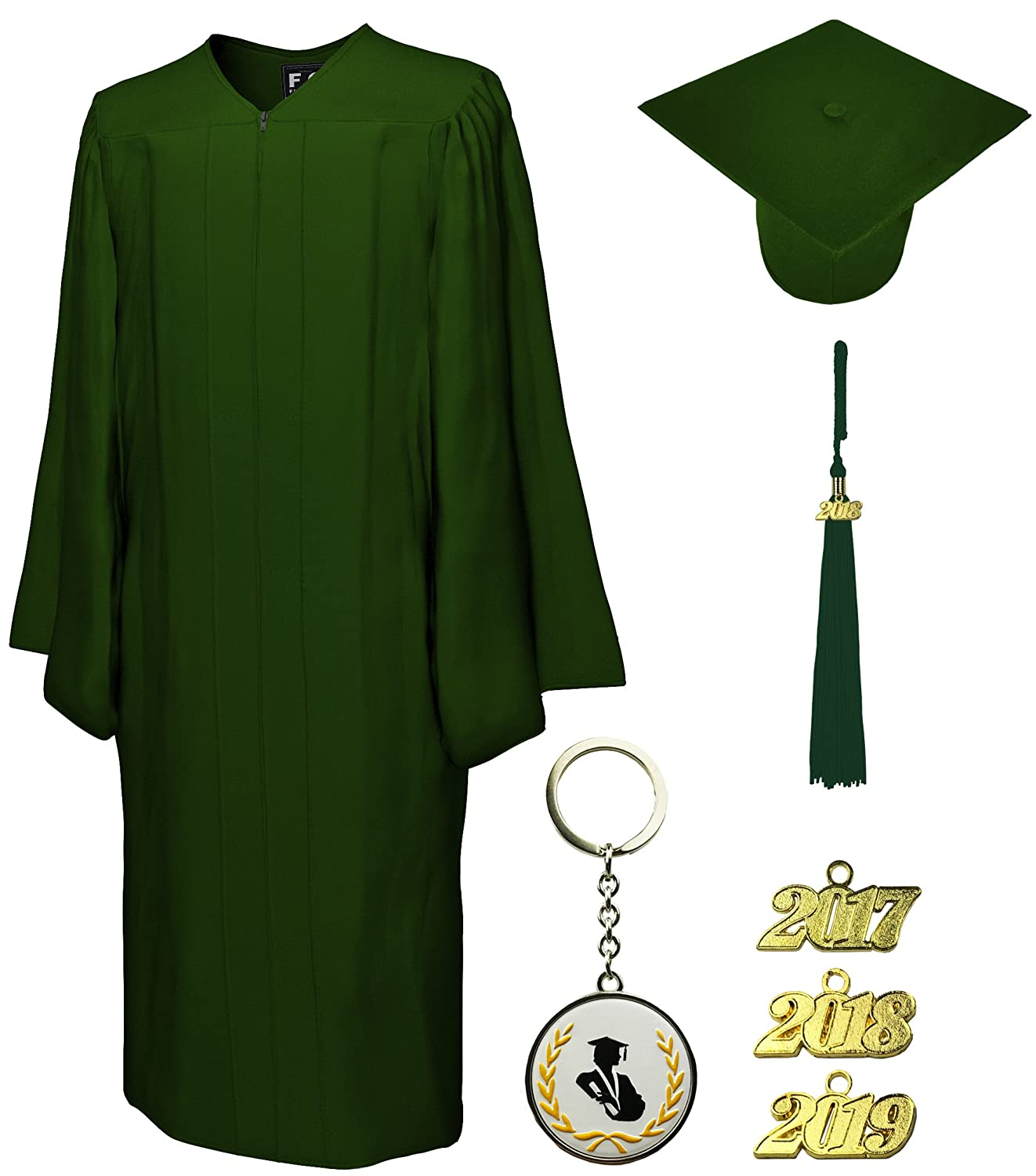 Graduation Cap and Gown and Tassel, Matte, FIT4GRAD