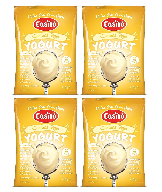 Easiyo Custard Style Vanilla Flavour Yogurt Sachet - 4x215g