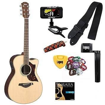 Yamaha ac1r pequeño cuerpo Kit de cuerdas de acero de guitarra acústica con cutaway guitarra eléctrica Natural y legado: Amazon.es: Instrumentos musicales