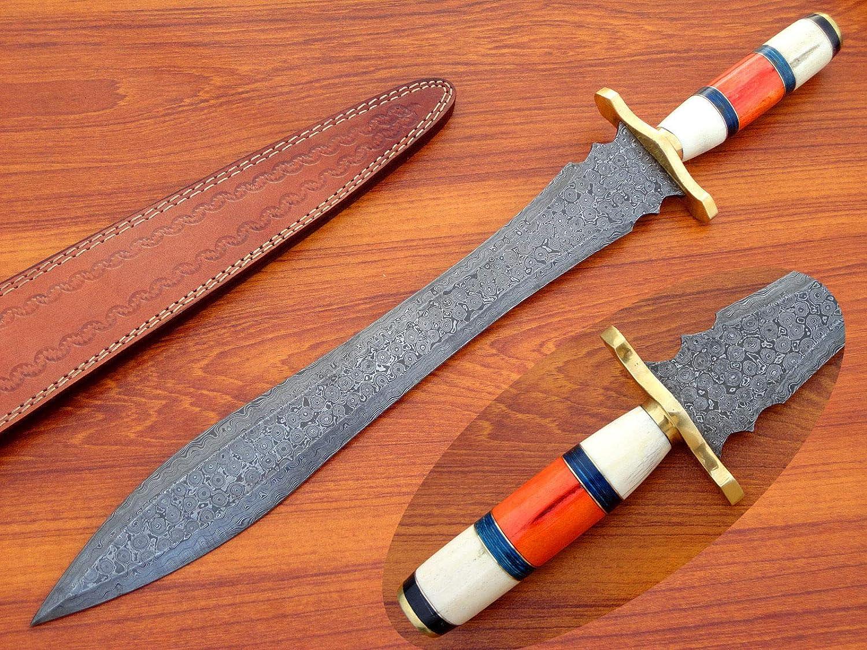 Amazon com : Knives hunt DS-203 Damascus Knife Custom