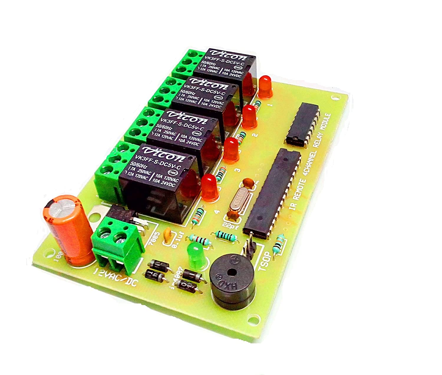 Insignia Labs Wireless Ir 4 Channel Remote Control Relay Board Circuit By Using A To Operate The Ac Mains Appliances An Module Light Fan Industrial Scientific