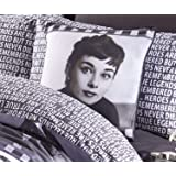 Audrey Hepburn Black and White Cushion Cover Square Scatter Cushion Cover