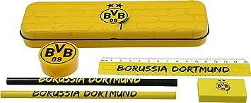 BVB Borussia Dortmund Schreibset mit Metallbox