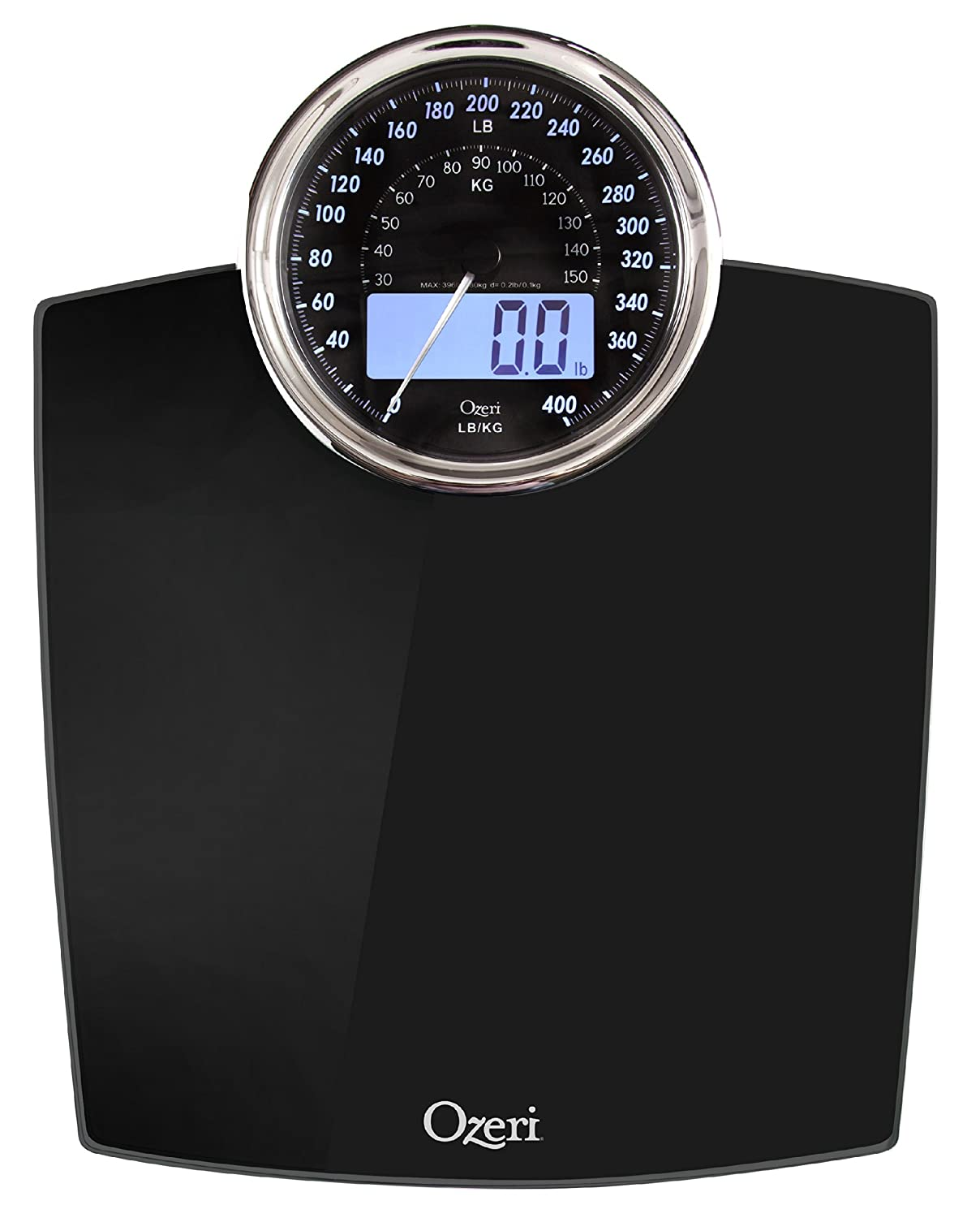 Ozeri Rev Digital Bathroom Scale With Electro Mechanical Weight Dial Black Amazoncouk Health Personal Care