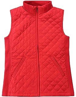 44b294c537e Bienzoe Women Casual Zip Quilted Sleeveless Light Weight Vest Stretch Rib