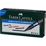 Faber-Castell Permanent Marker Pen - Pack of 10 (Black)