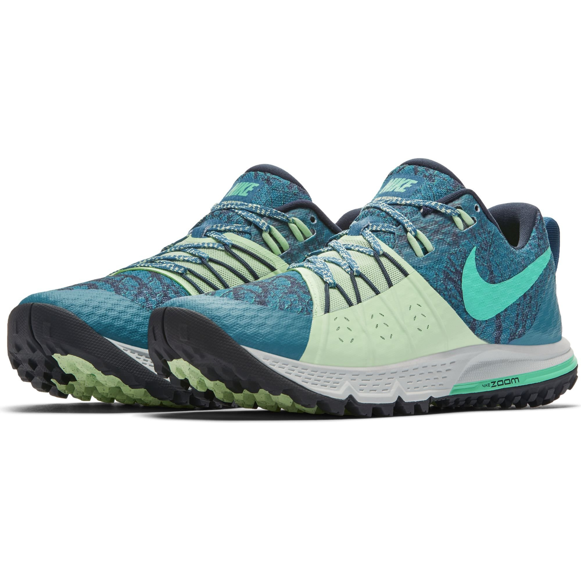 NIKE Women's Air Zoom Wildhorse 4 Running Shoe Green Abyss/Menta-Obsidian-Vapor Green 6.5 by NIKE (Image #2)