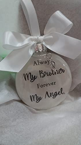 Memorial Christmas Ornaments.Brother Memorial Christmas Ornament Sympathy Gift W Angel Wing Charm