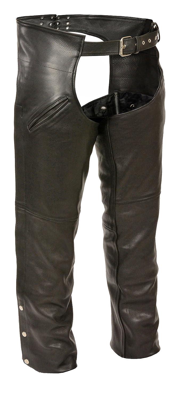 Black, XX-Large Milwaukee Mens Slash Pocket Leather Chaps