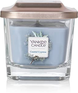 Yankee Candle Company Elevation Collection with Platform Lid, Small 1-Wick Candle, Coastal Cypress
