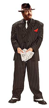 Gangster Costumes & Outfits | Women's and Men's Forum Novelties 20s Chicago Gangster Adult Costume $55.19 AT vintagedancer.com