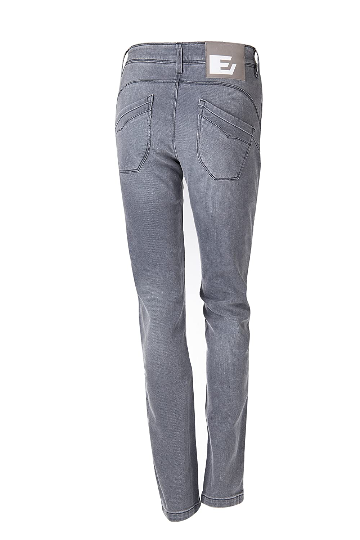 Esquad MEDI M. SLIM Pantalón de Vaquero para Moto, Gris, Talla 36