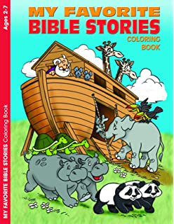 My Favorite Bible Stories Reproducible Coloring Book Ages 2 7