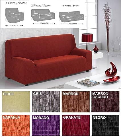 MercuryTextil Fundas de Sofas elasticas y adapatable, Funda Sofa 1,2,3 plazas Sofa Clic (Negro, 2PLAZAS 135-190CM)