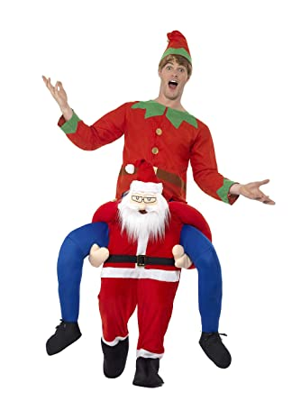 b2ead772d Smiffys 48814 Piggyback Santa Costume, Red, One Size: Amazon.co.uk ...