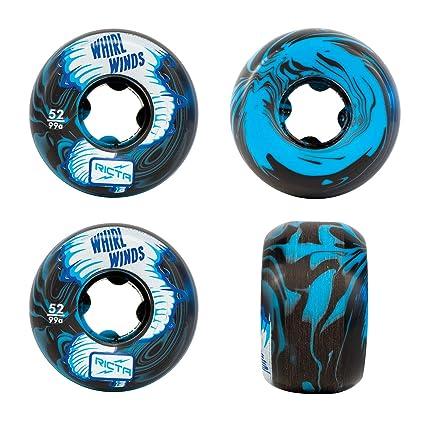 RICTA Rueda para Skate Whirlwinds Swirl 99A - 52Mm Azul-Negro (Default, Azul