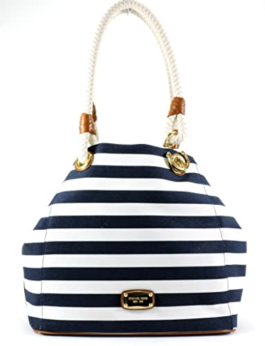 d0a41c42213e Michael Michael Kors Marina Grab Bag Canvas (NAVY AND WHITE ...