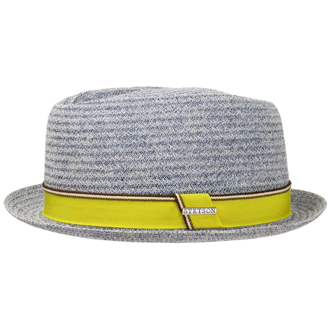 Stetson Cappello di Paglia Collano Toyo Uomo Cappelli da Spiaggia Sole Fedora con Nastro in Grosgrain Primavera//Estate