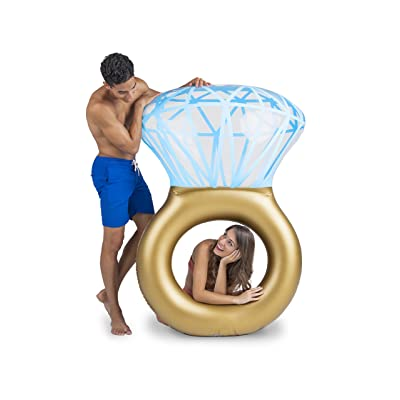 "BigMouth Inc. Bling Ring Pool Float, Thick Vinyl Raft, Holds 200 Pounds and Includes Patch Kit 48: x 48"": Sports & Outdoors"