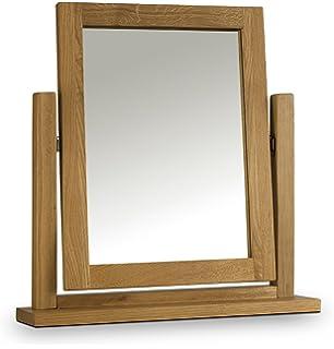 julian bowen marlborough waxed dressing table mirror 50 x 12 x 53 cm light