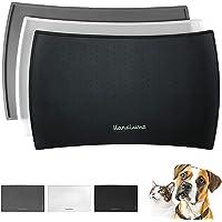 Podkładka z silikonu 48 x 30 cm (czarna, wygięta) I dla kota i psa I antypoślizgowa mata