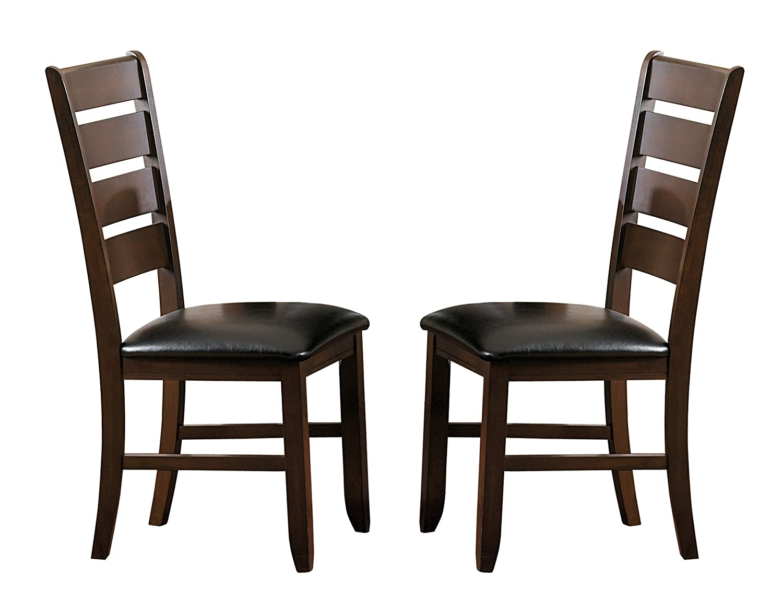 Homelegance Amaillia Set of 2 Modern Dining Chairs Ladder Back Design, Oak 586S