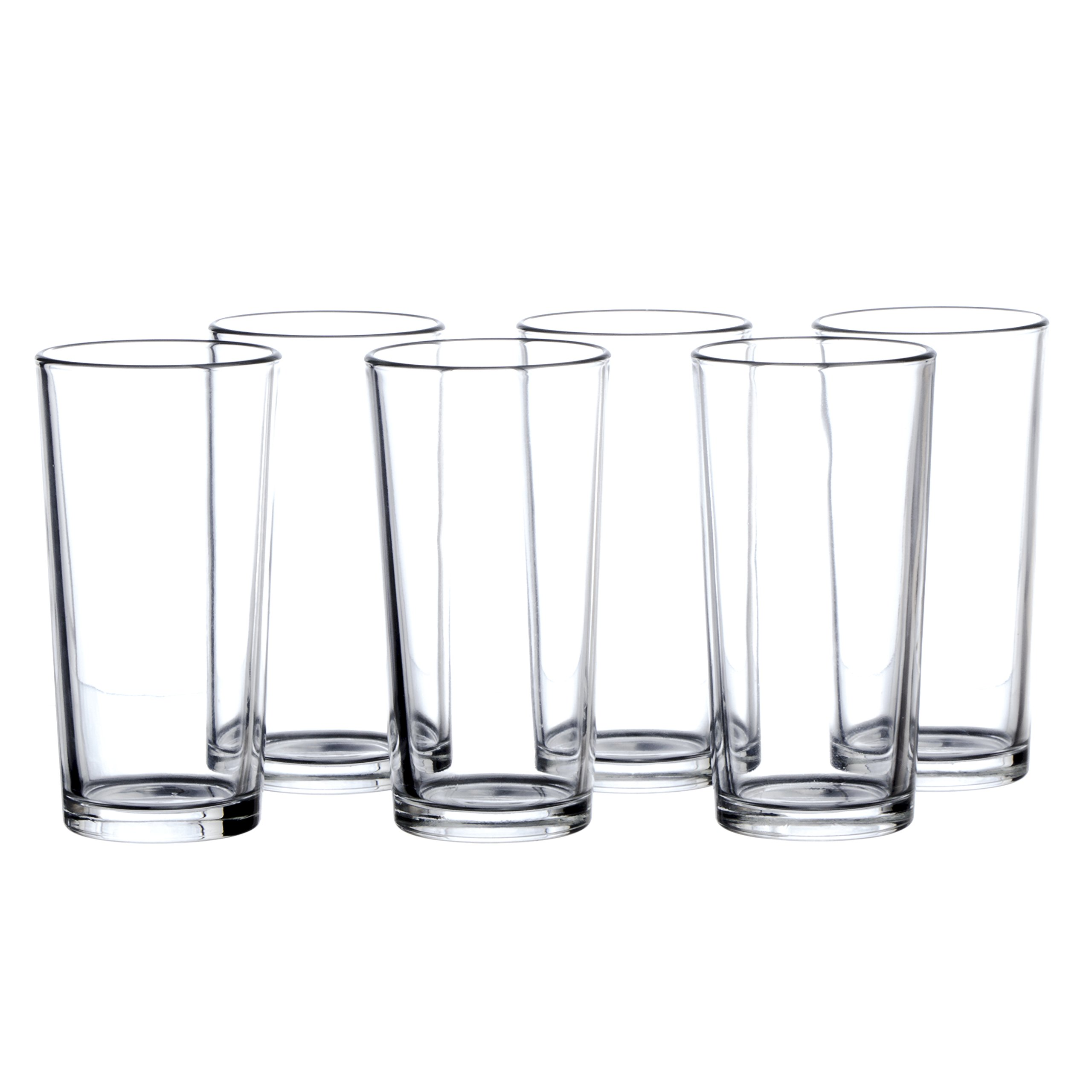 Highball Glasses Set, 12 Pieces, Clear Bar Glass, 7.8 Ounce (230 ml), Drinking Glassware for Water, Juice, Cold Beverages and Cocktails, Heavy Base