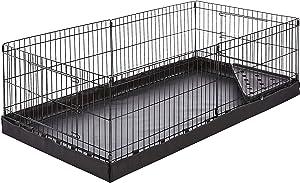 AmazonBasics Canvas Bottom Pet Cage with Divider Set