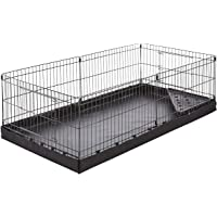 AmazonBasics Indoor-Outdoor Small Pet Habitat Cage with Canvas Bottom