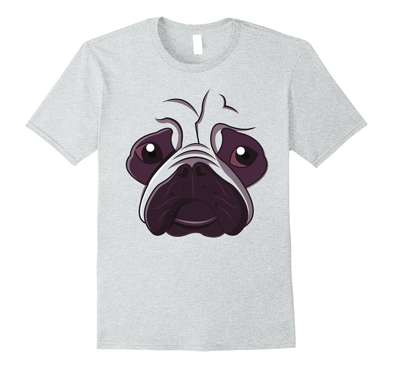 Bulldog Emoji Super Cute Face Dog Halloween Costume Shirt-AZP