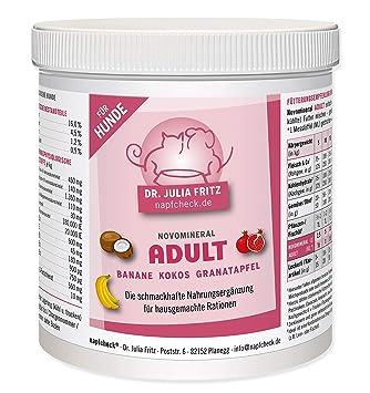 napfcheck Novo Mineral Adult - para Perros - Plátano, Coco, Granada - 500 g: Amazon.es: Productos para mascotas