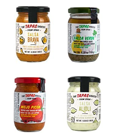"""The Tapas Sauces"" Combo of Four Sauces (Salsa Verde, Mojo Picon"