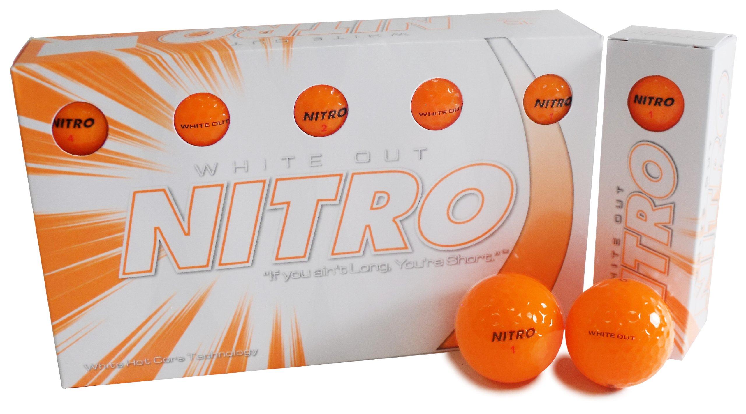 Nitro White Out Ball (15-Pack), Orange by Nitro