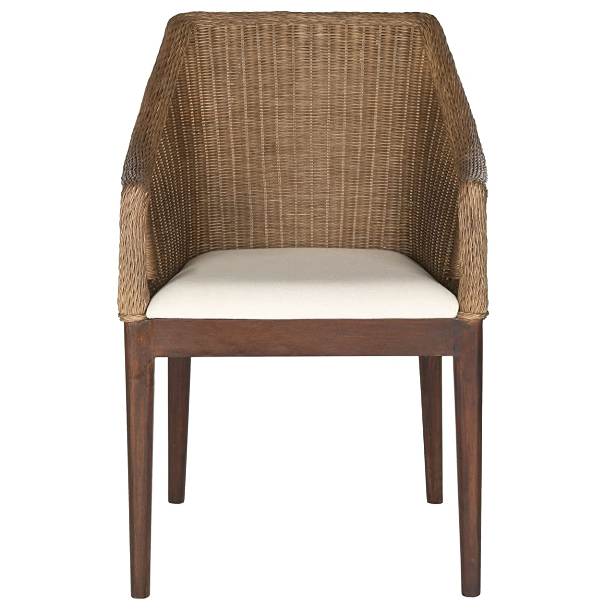 Safavieh Home Collection Enrico Arm Chair, Brown