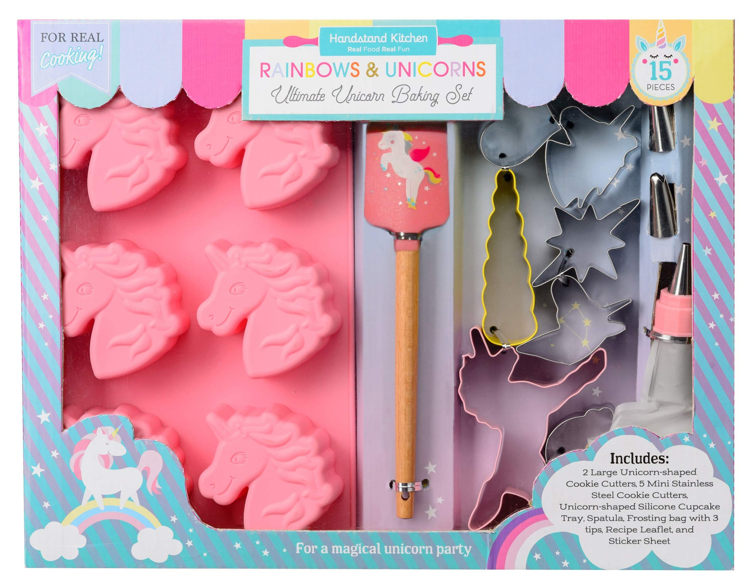 Handstand Kitchen Rainbows and Unicorns 15-piece Ultimate Baking Party with Recipes for Kids by Handstand Kitchen