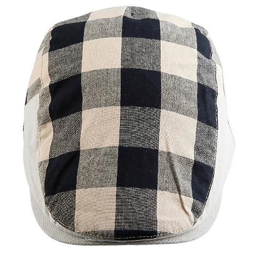 645476ab2 Samtree Newsboy Cap for Men Women,Plaid Ivy Gatsby Flat Driving Beret Hat
