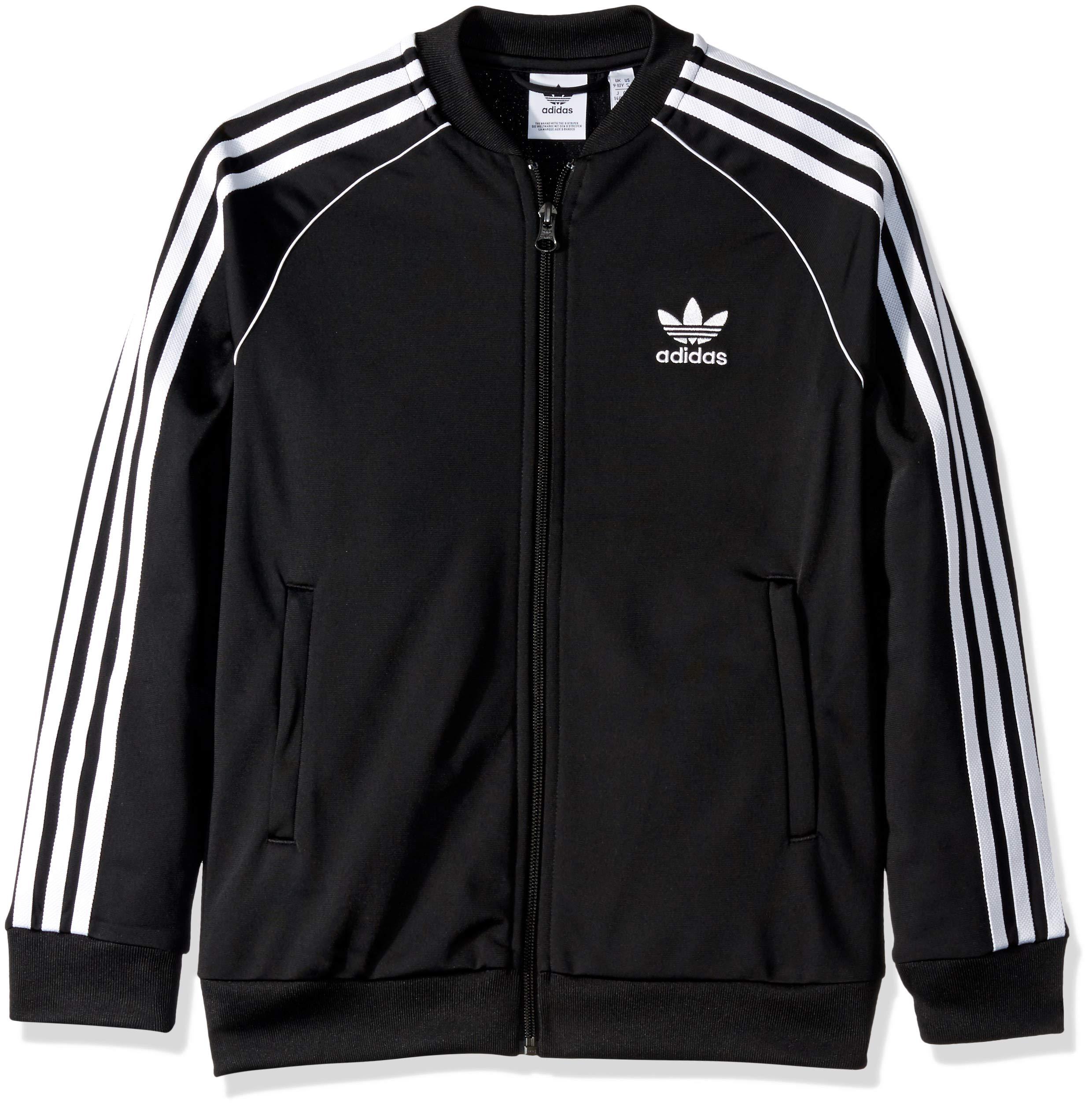 adidas Originals Boys' Big Superstar Jacket, Black/White, X-Large
