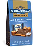 Ghirardelli Dark and Caramel Sea Salt Chocolate Squares Bag, 5.32-Ounce