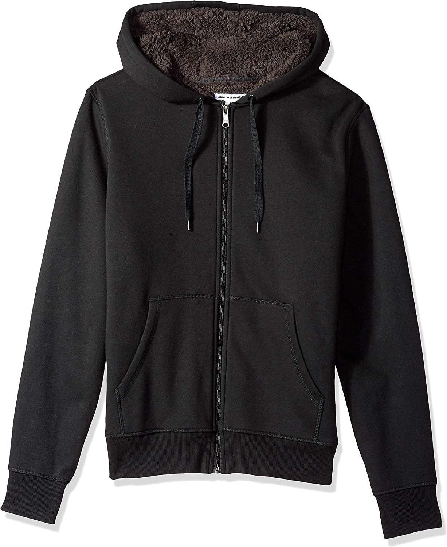 Mens Hoodies Zip Up Sherpa/Fleece Lined Hoody Winter Jumpers S-2XL