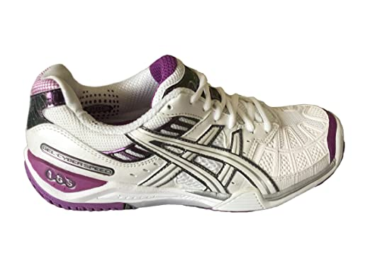 New Asics GEL CYBER SPEED WOMEN Court Trainers White Ice