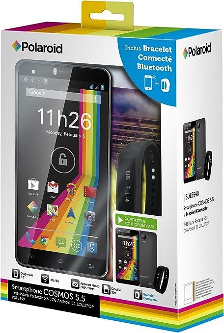 Polaroid Cosmos Smartphone Libre 4 G (Pantalla: 5,5 Pulgadas – 8 GB – Dual SIM – Android) + Pulsera conectable: Amazon.es: Electrónica