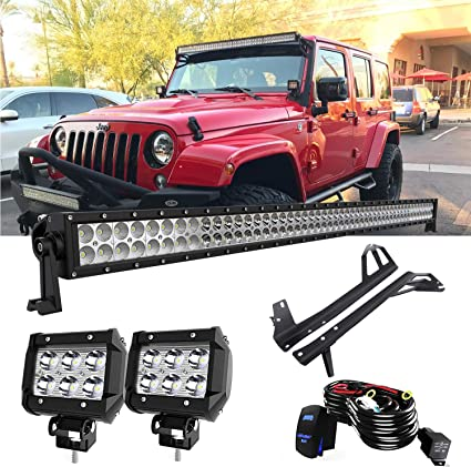 QUAKEWORLD DOT Approved 52 Inch 300W Offroad LED Light Bar + 4 Inch on 1998 jeep grand cherokee wiring harness, 2010 toyota tundra wiring harness, 1994 jeep wrangler wiring harness, 2011 jeep grand cherokee wiring harness, 2008 hyundai santa fe wiring harness, 1988 jeep wrangler wiring harness, 2005 chrysler pacifica wiring harness, 2007 jeep wrangler wiring harness, 1999 jeep grand cherokee wiring harness, 2002 jeep wrangler wiring harness, 2010 dodge charger wiring harness, 2006 jeep wrangler wiring harness, 2004 jeep grand cherokee wiring harness, 2005 jeep wrangler wiring harness, 2000 jeep grand cherokee wiring harness, 1993 jeep wrangler wiring harness, 2010 chevrolet impala wiring harness, 2010 ford escape wiring harness, 2010 honda civic wiring harness, 1991 jeep wrangler wiring harness,