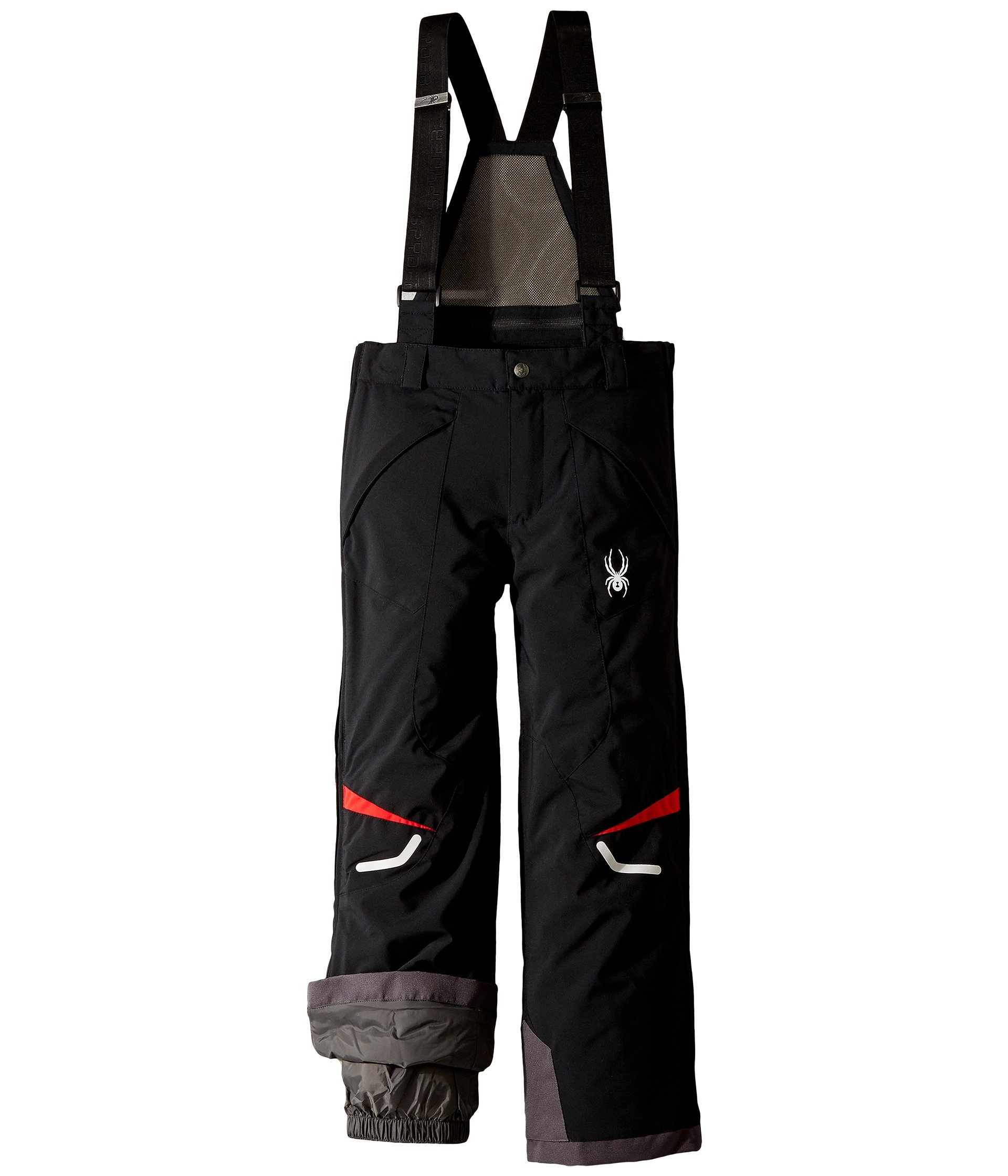 Spyder Kids Boy's Force Pants (Big Kids) Black/Red 16