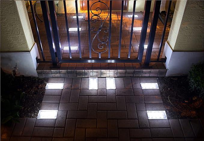 4u0026quot;x 8u0026quot; Solar Paver Light, 8 LED (inside One Piece)