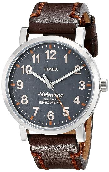4a7bb70ce4fd Timex Unisex TW2P58700 WATERBURY esfera gris correa de piel