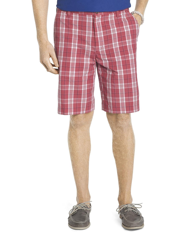 Izod Men's Flat Front Colored Plaid Short 82SH182