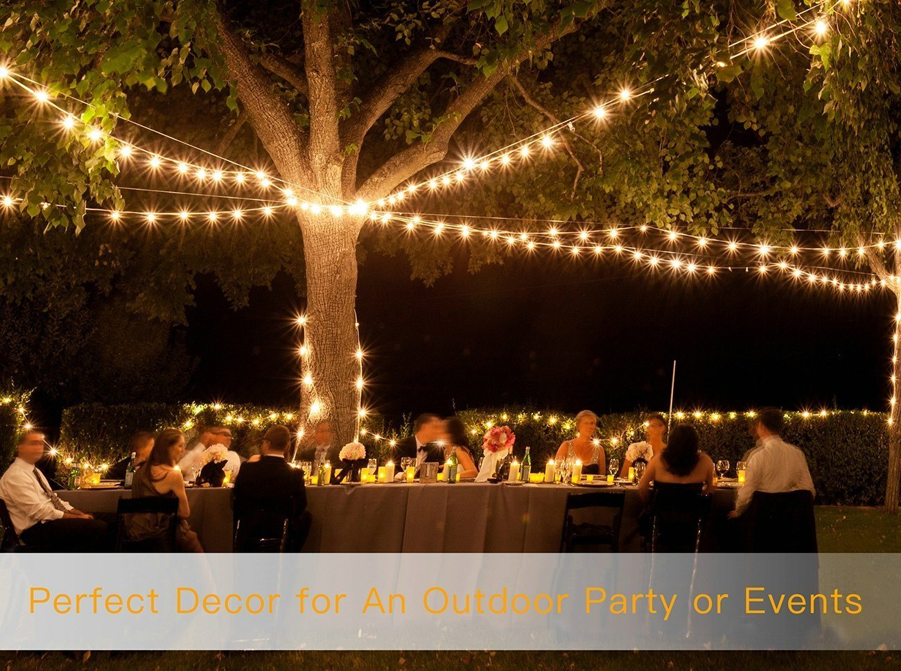 Dimmable 2W Vintage Edison Bulbs 48 Ft Commercial Grade Patio Lights Create Cafe Ambience in Your Backyard- Warm White Hanging Waterproof LED Outdoor String Lights