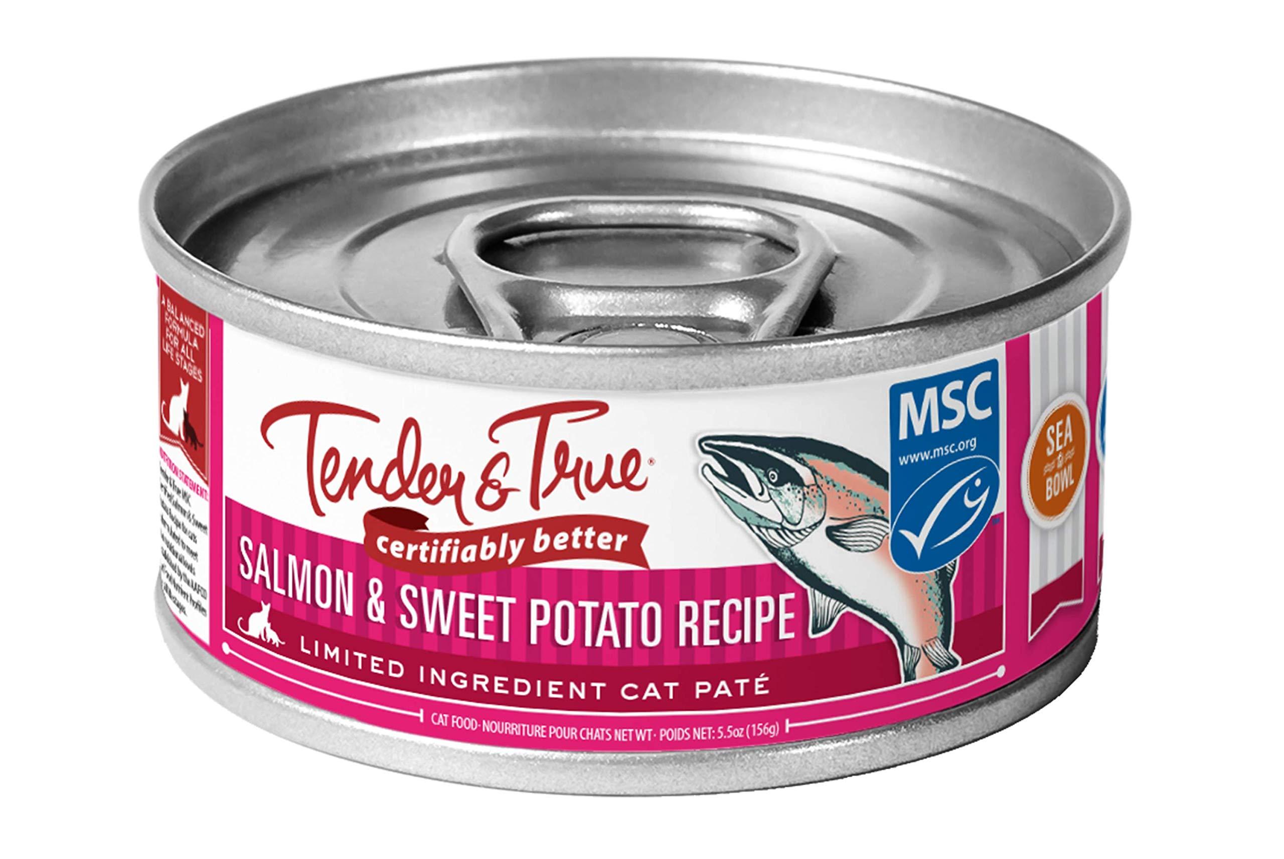 Tender & True Salmon & Sweet Potato Recipe Canned Cat Food, 5.5 oz, Case of 24 by Tender & True Pet Nutrition