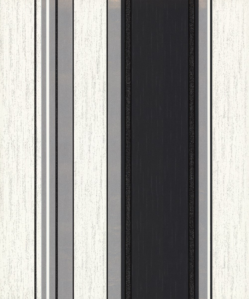 Vymura Synergy Striped Wallpaper Charcoal/Silver/White (M0785)